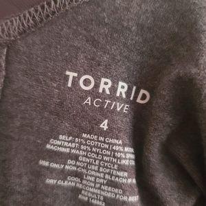 torrid Tops - GREY MESH ACTIVE LONG SLEEVED TEE